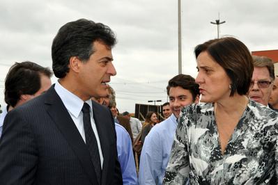 O governador Beto Richa e a secretária da Justiça, Cidadania e Direitos Humanos, Maria Tereza Uille Gomes