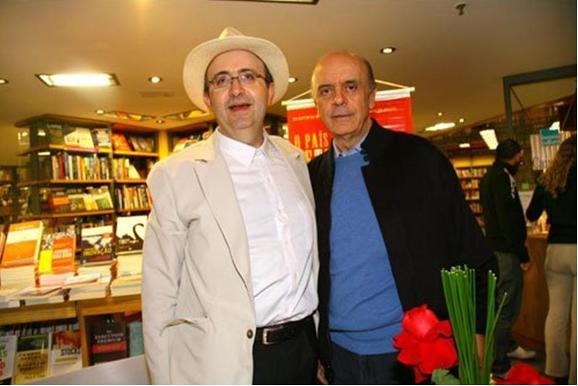 Reinaldo Azevedo e seu amigo, o tucano José Serra