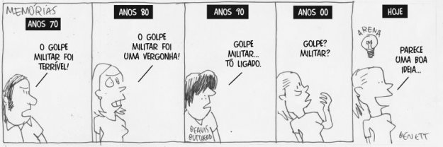 Charge de hoje do Benett na Gazeta do Povo