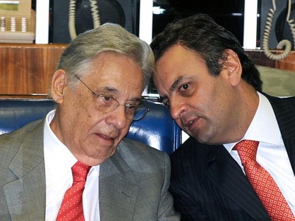 Aécio foi flagrado combinando votos com FHC para colocar Alckmin e Serra no paredão