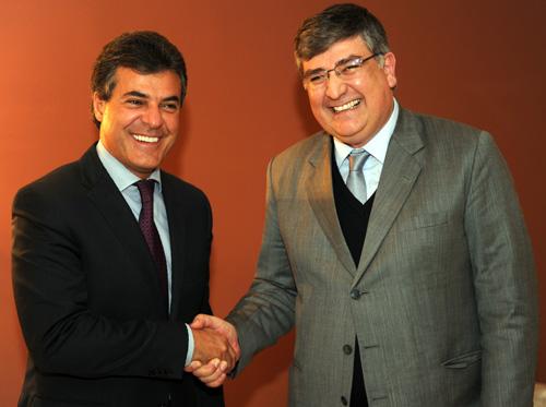 Gov. Beto Richa recebe Amauri Escudero