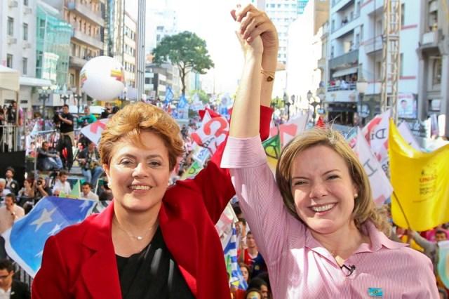 Presidenta Dilma Rousseff e a Ministra da Casa Civil, Gleisi Hoffmann