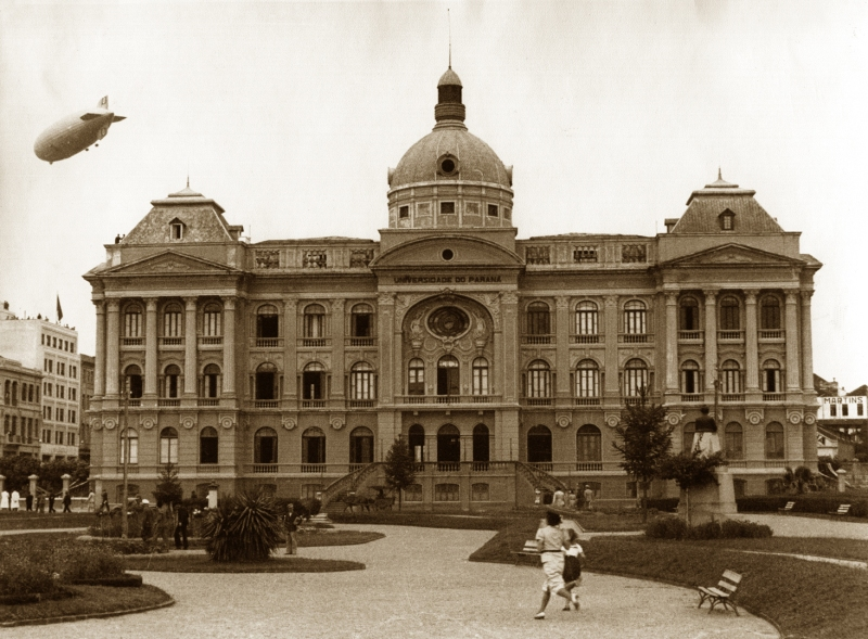 A antiga fachada da UFPR