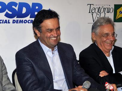 O neoliberal Aécio Neves com seu guru, FHC