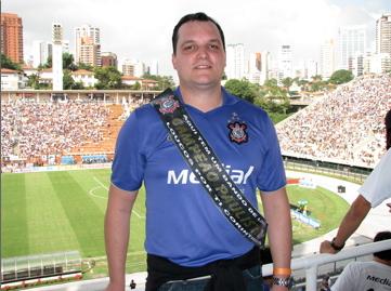O blogueiro havia visto o último título do Corinthians contra o Santos de Neymar em 2009 no Pacaembú