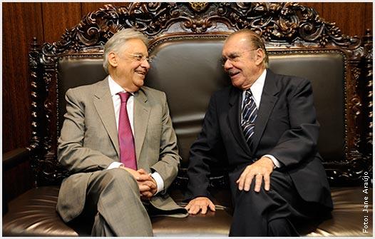 FHC é um ex-presidente mais neoliberal do que Sarney, mas confesso que Sarney é mais coronel do que FHC