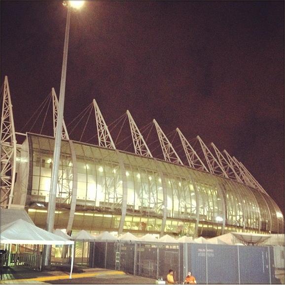 O belo estádio do Castelão em Fortaleza