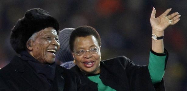 A última aparição em público de Mandela foi durante a Copa do Mundo da África do Sul em 2010