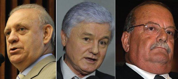 Ademar Traiano (PSDB), líder do governo na Assembleia; Valdir Rossoni (PSDB), presidente da Assembleia Legislativa; Luiz Accorsi (PSDB), deputado estadual