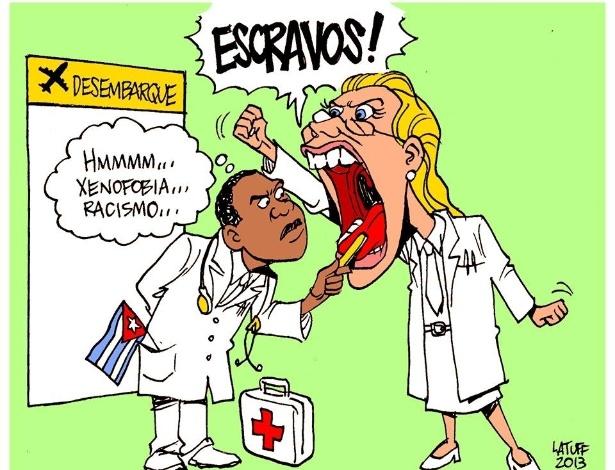 6set2013---charge-feita-pelo-cartunista-carlos-latuff-para-o-jornal-sul-21-critica-os-medicos-brasileiros-que-protestaram-na-chegada-de-medicos-cubanos-ao-brasil-1378488515639_615x470