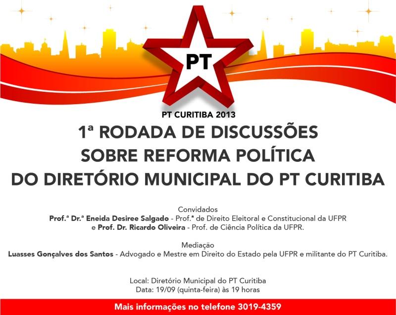 convite reforma política Diretório Municipal