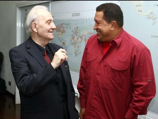István-Mészáros-and-Hugo-Chávez