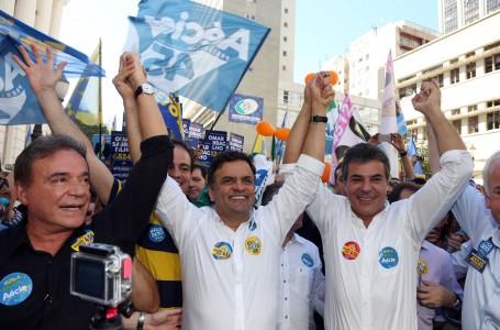 Os tucanos Alvaro Dias, Aécio Neves e Beto Richa com discurso de ódio ao PT nos últimos dias