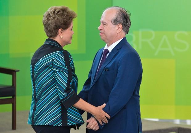 Dilma e o Ministro da Educação, Renato Janine Ribeiro