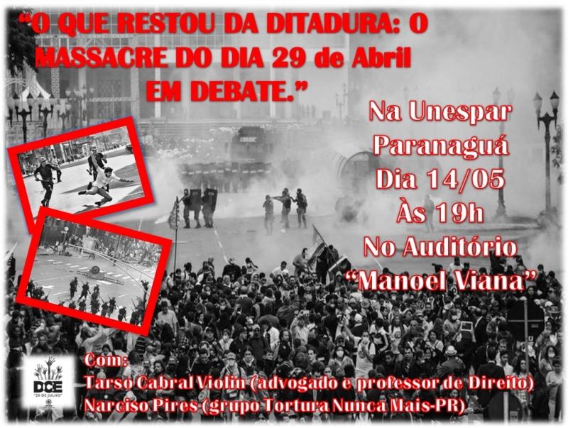 Cartaz - O que restou da ditadura