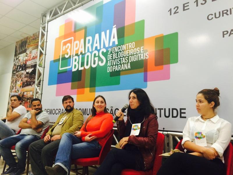 Angela no #3ParanáBlogs. Foto de Tarso Cabral Violin