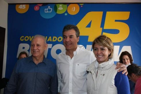 O presidente da Assembleia Legislativa do Paraná, deputado Ademar Traiano (PSDB), o governador Beto Richa (PSDB) e a Primeira Dama Fernanda Richa