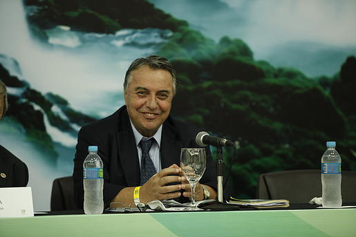 O professor homenageado, Romeu Felipe Bacellar Filho