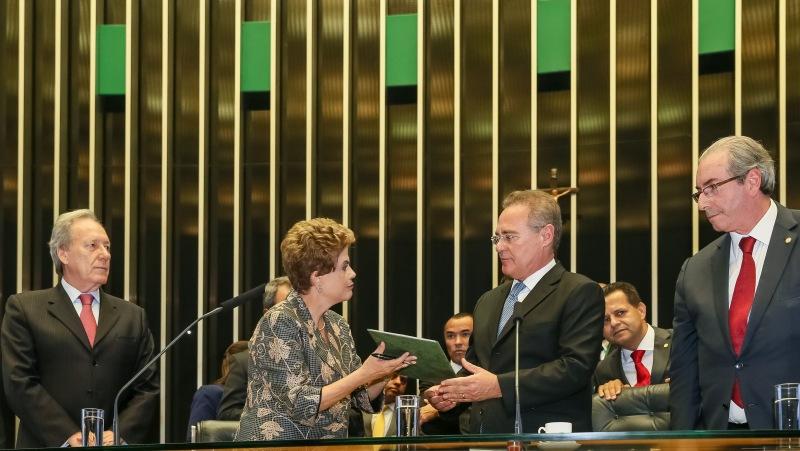 Brasília - DF, 02/02/2016. Presidenta Dilma Rousseff durante Sessão solene destinada a inaugurar a 2ª Sessão Legislativa Ordinária da 55ª Legislatura do Congresso Nacional. Foto: Roberto Stuckert Filho/PR