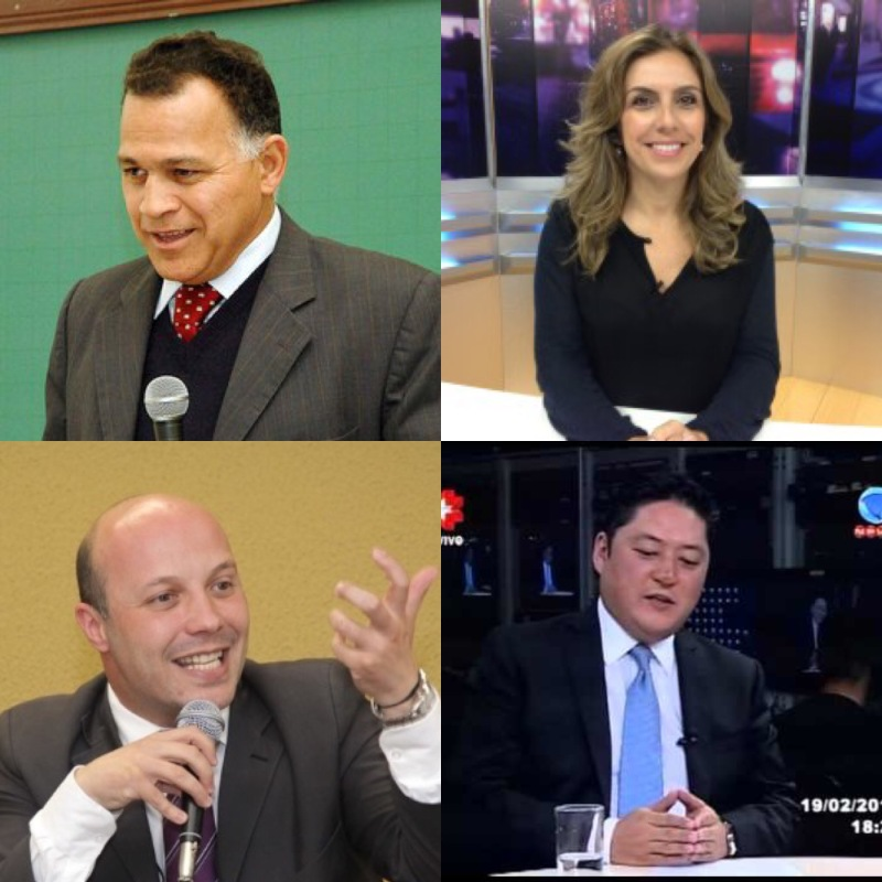 Juristas Manoel Caetano, Esyef&ânia Barbosa, Paulo Opuszka e Emerson Fukushima