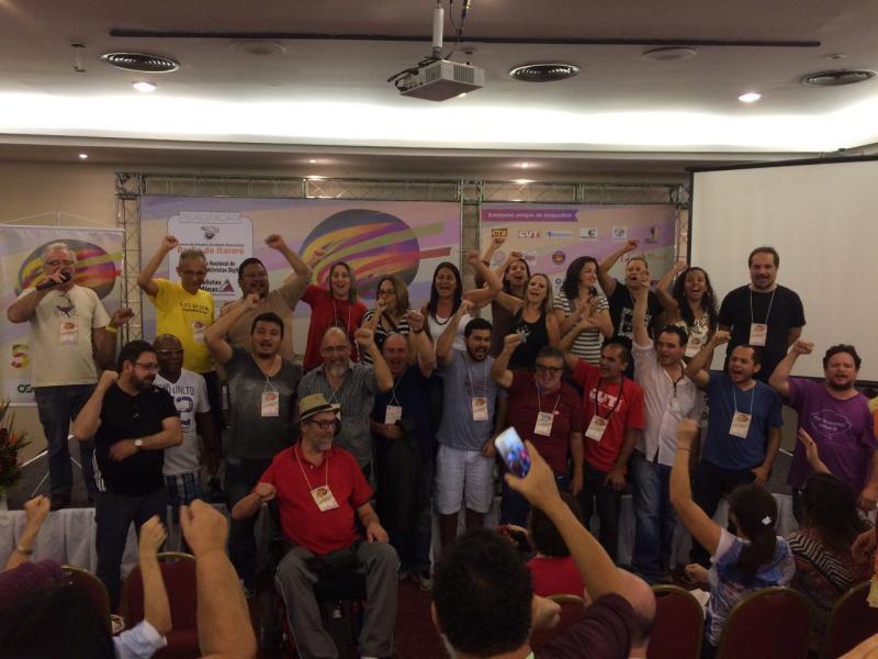 Comissão Nacional de Blogueiros eleita no #5BlogProg em Belo Horizonte. Foto de Tarso Cabral Violin